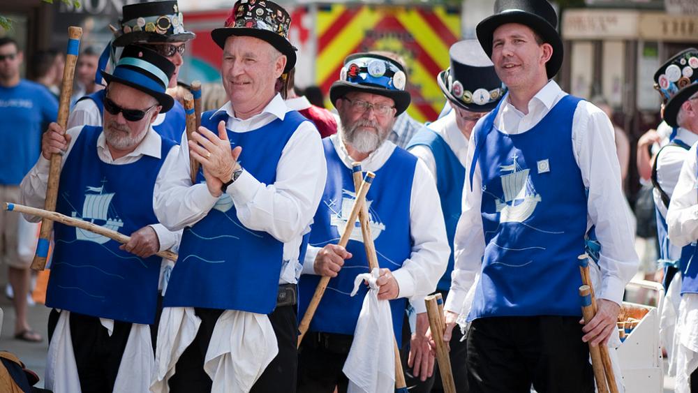 Men of Wight morris dancers Isle of Wight